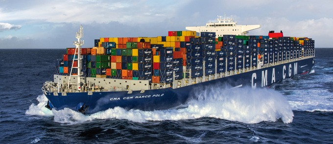 Post-Panamax M.V. CMA CGM Marco Polo Photo Courtesy of CMA CGM